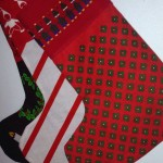 Tre julstrumpor