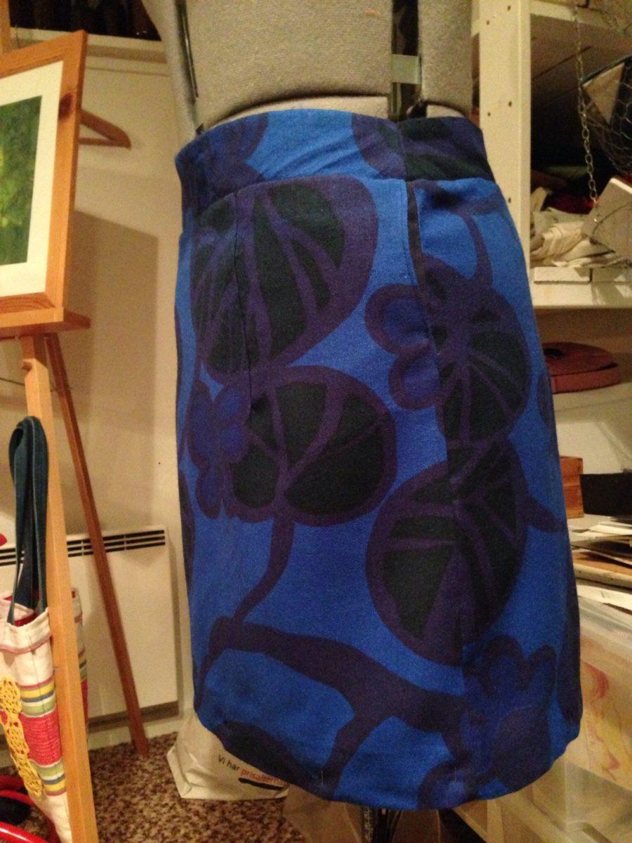 Kornblå kjol